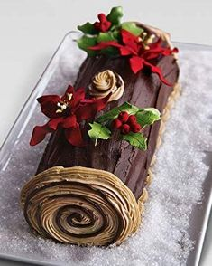 Art Bakery Buche de Noel Cake, For People Buche de Noel Cake at Neiman Marcus.Buche de Noel Cake at Neiman Marcus. Christmas Yule Log, Christmas Sweets, Christmas Cooking, Christmas Goodies, Christmas Cakes, Traditional Christmas Desserts, Christmas Cake Designs, Xmas Cakes, Nordic Christmas