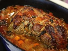 Gigot de 7 heures Home Recipes, Cooking Recipes, Recipe Box, Soul Food, Pork, Meat, Healthy, Kitchen, France