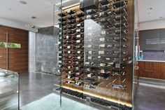 Vin de Garde, Wine Cellar, Modern Wine Cellar, Modern Design, Glass, Wine, Nek-Rite Series, James Stockhorst Photography, Wave House, Beach Front Home, www.vindegarde.ca