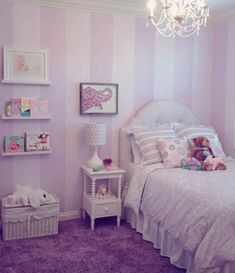 Purple girls room
