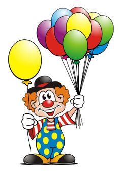 Clown Balloons - Buy this stock illustration and explore similar illustrations at Adobe Stock Clown Crafts, Circus Crafts, Carnival Themed Party, Circus Theme, Drawing For Kids, Art For Kids, Clown Balloons, Clown Party, Birthday Clown