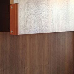 Leather Recessed Pulls | Chocolate from – MadeMeasure - PANTRY PULL?