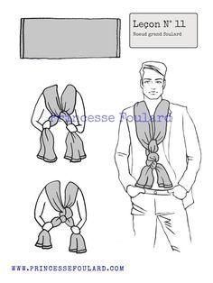 7a4d9367c44a lecon numéro 11   nœud de foulard pour homme Noeuds De Foulard, Comment  Faire Un