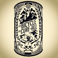 The Bicycle The Cure-All T design coming soon to HizokuCycles.com #Hizokucycles…