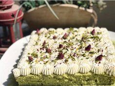Home baked Pistachio Rose Milk Cake via recipes on November 19 2018 at Cokies Recipes, Easy Cake Recipes, Sweets Cake, Cupcake Cakes, Cupcakes, Pistachio Milk, Rose Milk, Tres Leches Cake, Cupcake