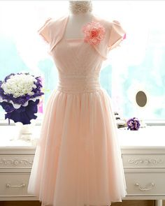 Vintage Tulle Dress Bridesmaids Dress Knee Length T029E by sheprom, $89.58