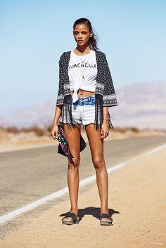 Aya Jones stars in H&M Love Coachella 2015 lookbook