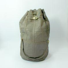 90s huge Vintage Denise genuine leather tote bag, oversized backpack, strong travel bag by etsyYNB on Etsy