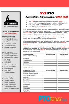 ... PTO & PTA Elections on Pinterest | Pto today, Election ballot and
