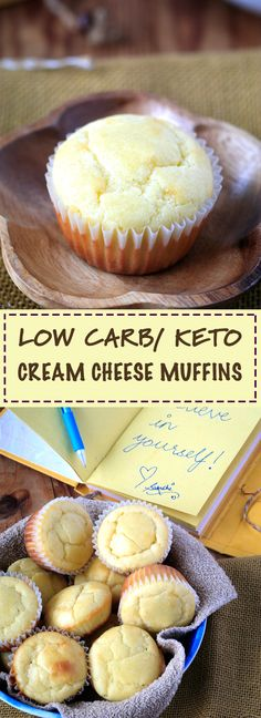 Keto/ low carb Cream Cheese poundcake muffins! Very easy and delicious recipe.