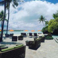 By the #pool #kayak #LeMoana #BoraBora #InterContinental #resort @icfr_polynesia #FrenchPolynesia #hotel #overwaterbungalow #travel #reviewsbycouple