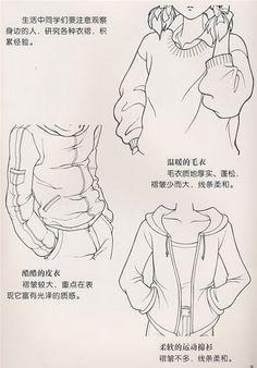 不同衣服褶皱的画法 2
