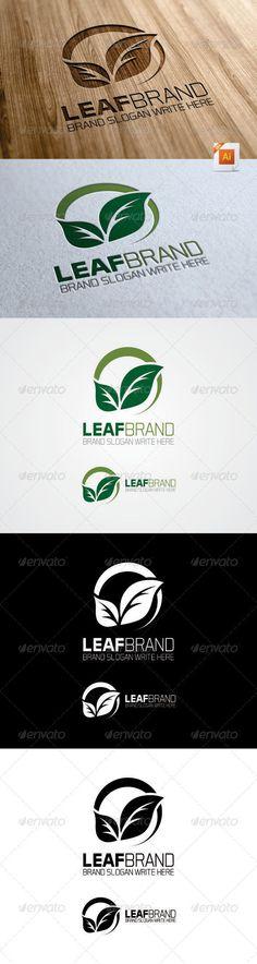 Leaf Brand Logo - Nature Logo Templates