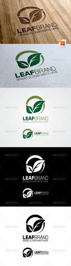 Leaf Brand Logo  - Nature Logo Templates