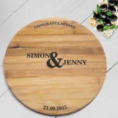 Personalised Bamboo Board - Congratulations