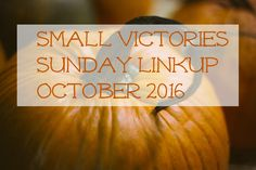 Small Victories Sunday Linkup 10/23/2016
