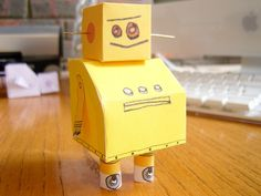 Instructables Robot -- Paper Model: 8 Steps (with Pictures) Projects For Kids, Crafts For Kids, Arts And Crafts, Paper Robot, Robotics Projects, Cool Robots, Pretty Packaging, Paper Models, Photoshop Elements