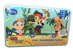 Disney Jake and the Never Land Pirates 3 In 1 Panorama Puzzle ** You can find out more details at the link of the image.