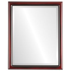 Ebern Designs Rowles Framed Rectangle Accent Mirror Size: H x W x D, Finish: Rosewood Round Wall Mirror, Wall Mounted Mirror, Beveled Mirror, Beveled Glass, Framed Mirrors, Contemporary Rustic Decor, Contemporary Frames, Custom Mirrors, Modern Mirrors
