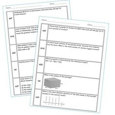 Test Prep and Lesson Plans-Great spiral math review