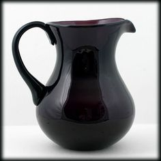 Black Amethyst Art Gl Pitcher Elegant Vintage Door Sgl Doorspurple