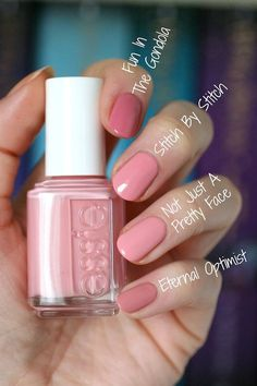 Essie Resort 2017 Collection + 2 Re-Releases Cute Nails, Pretty Nails, Diy Nails, Glitter Nails, Essie Nail Colors, Nail Polishes, Manicures, Nail Nail, Essie Pink Nail Polish