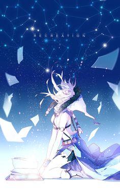 Recreation by on DeviantArt Otaku Anime, Sad Anime, Anime Love, Kawaii Anime, Anime Guys, Art Manga, Manga Girl, Anime Art Girl, Fille Blonde Anime