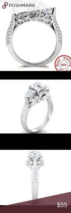 A New Sterling Silver Flower Ring A New Sterling Silver Flower Ring Jewelry Rings