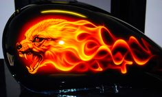 'Jackles' Gas Tank, Airbrushed by Alan Pastrana.    http://pastranaunlimited.com/galleries-art/miscellaneous/jackles.html