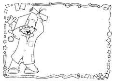 CARTELES PARA MENSAJES - Paulita 2 - Λευκώματα Iστού Picasa Children, Kids, Coloring Pages, Graduation, Black And White, Preschool, Ideas, Moldings, Home