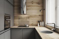 Kitchen Interior Architecture Sinks 38 New Ideas Kitchen Sink Window, Best Kitchen Sinks, Small Sink, Small Space Kitchen, Small Spaces, Grey Kitchens, Cool Kitchens, Kitchen Grey, Kitchen Interior