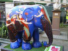 The Elephant Parade in London 2010 Elephant Stuff, Elephant Colour, Colorful Elephant, Asian Elephant, Elephant Love, Elephant Art, All About Elephants, Elephants Never Forget, Elephant Information