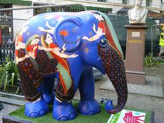 The Elephant Parade in London 2010. I remember seeing these
