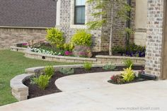 How To Landscape & Hardscape a Front Yard (.from our experience How To Landscape & Hardscape a Fro Landscape Edging, Landscape Walls, Landscaping With Rocks, Front Yard Landscaping, Landscaping Ideas, Modern Landscaping, Backyard Ideas, Front Yard Design, Driveway Design