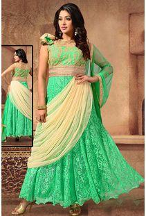 Green Net Readymade Salwar Suit-GIK1761