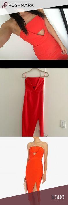 702c1bcd018a3 Nicholas Red Cut Out Midi Dress Worn only once. Nicholas strapless red midi  dress with