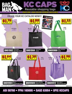 Reusable Shopping Bags from your new Bag Man - KC Caps - Call Today for More Information!  - http://www.verticallysocial.com/2015/05/12/reusable-shopping-bags-from-your-new-bag-man-kc-caps/