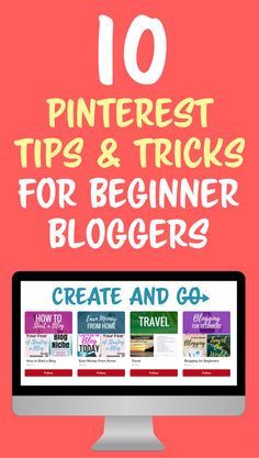 These Pinterest tips for beginner bloggers will help you drive blog traffic and learn Pinterest marketing for your blog! #createandgo