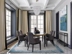 〚 Moscow house with art deco elements (350 #interior #design #home #decor #idea #inspiration #style #cozy #dining #Room #modern