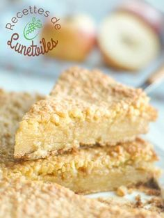 Grimolle aux pommes et amandes - Delicious Foods Thermomix Desserts, Köstliche Desserts, Delicious Desserts, Yummy Food, 7 Layer Cakes, Fall Recipes, Sweet Recipes, Donuts, Friend Recipe