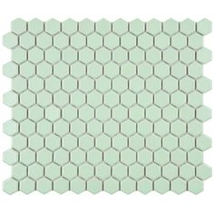 Merola Tile Metro Hex Matte Light Green 11-3/4 in. x 10-1/4 in. x 5 mm Porcelain Mosaic Floor and Wall Tile (8.54 sq. ft. / case)-FXLM1HMG a...