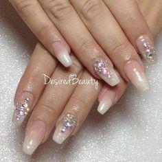 Baby boomer ombré nails  #bostonnails #blacknailtech #gelnails #gelmanicure #nailart #bostonmua #nailbling #nailporn #desiredbeauty #blackgirlsdonails