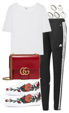 """""""Untitled #2880"""" by theeuropeancloset ❤ liked on Polyvore featuring adidas, Splendid, Gucci and ASOS"""