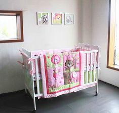 7 unids Bordado cama cuna conjunto cunas para bebés bfd1a7c089d0