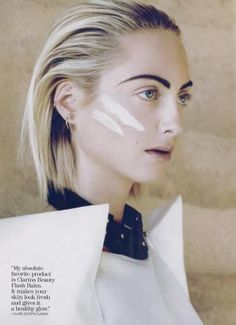 Claire Courtin-Clarins lookin fierce in July issue of Marie Claire!