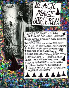 black magic sorceress playlist via rookiemag Halloween Playlist, Halloween Music, Holidays Halloween, Halloween Party, Music Mood, Mood Songs, New Music, Music Songs, Playlists