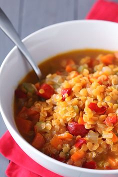 Red Lentil Soup Recipe | gimmesomeoven