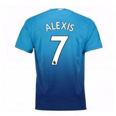 Arsenal Alexis Sanchez 7 Venkovní Dres 17-18 Krátký Rukáv
