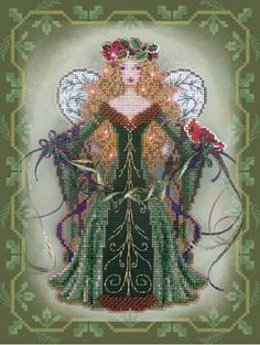 Brooke's Books Publishing Spirit of Evergreen - Cross Stitch Pattern. Pattern only. To compmlete the dimensional angel, you will need: DMC floss, Kreinik #8 Met