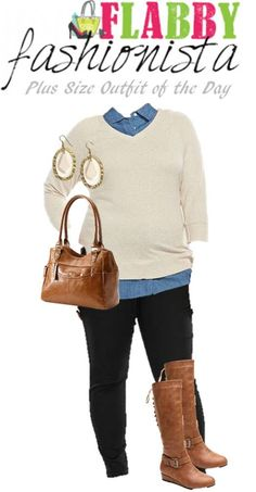 Plus Size Outfit of the Day – Tall Boots and Sweater